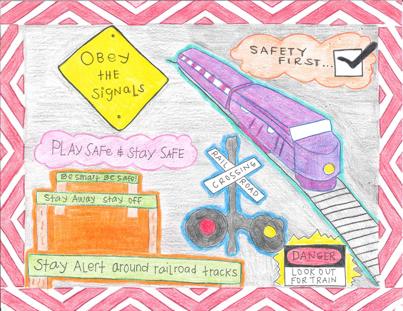 Road Safety For Children Drawings